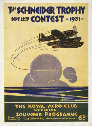 Schneider Trophy contest programme, 12 September, 1931.