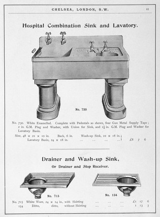 'Hospital Combination Sink and Lavatory', c 1902.