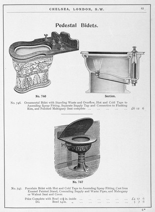 'Pedestal Bidets', c 1902.