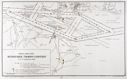 Route of the Schneider Trophy contest, Hampshire, September 1929.