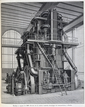 Electric power station, Luisenstrase, Berlin, c 1900.