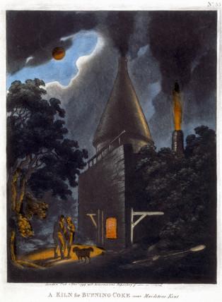 'A Kiln for Burning Coke, near Maidstone, Kent', November 1799.