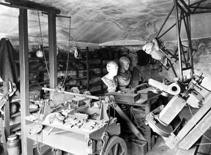 The workshop of Scottish engineer James Watt  in 1924.
