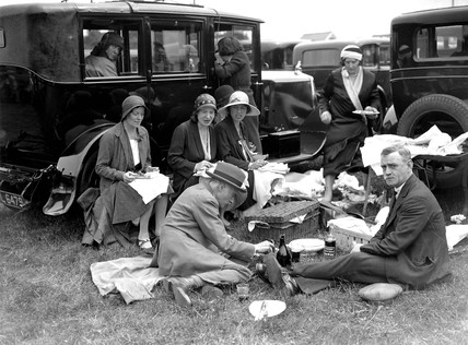 A luncheon party at the Oaks, 5 June 1931.