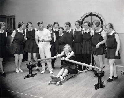 Women in a gymnasium, Imperial Chemical Industries Ltd, 29 April 1931.