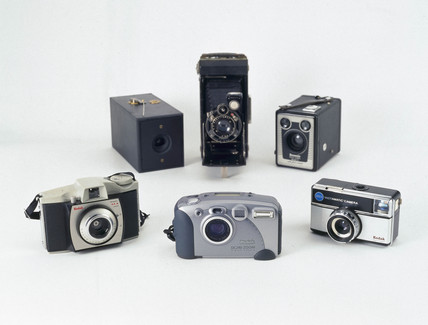 A selection of Kodak cameras, 1888-1999.