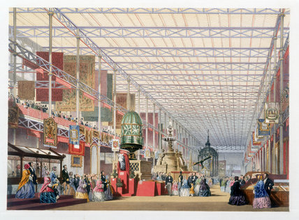 The British Nave at the Great Exhibition, Crystal Palace, London, 1851.