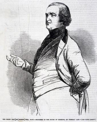 Sir Robert Peel, English politician, 1846.