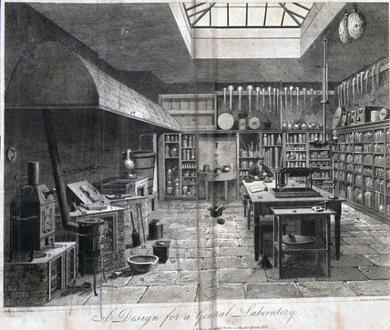 A design for a general laboratory, London, 1822.