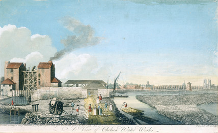'A view of Chelsea Water Works', 1750.