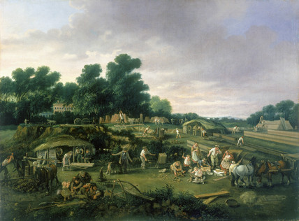 English country brickworks, c 1840.