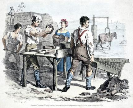 Brick making, 1821.