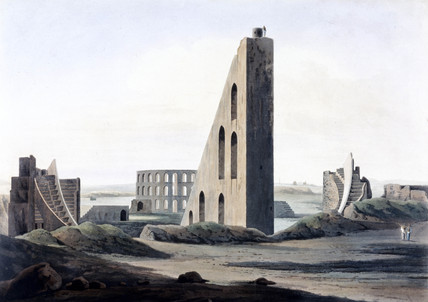 Samrat Yantra sundial Delhi, India, 1808.