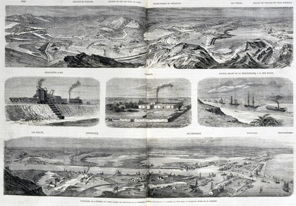 Views of the Suez Canal, Egypt, 1867.