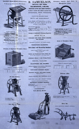 Selection of agricultural machinery, 1851.