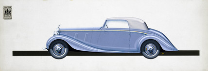 Rolls Royce two/three seater 'Phantom III' coupe cabriolet, 1937.
