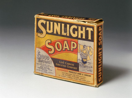 Packet of 'Sunlight' soap, c 1890-1914.
