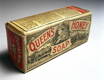 Packet of 'Queen's Honey' soap, c 1890-1914.