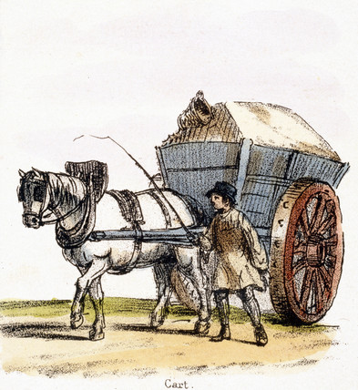 'Cart', c 1845.