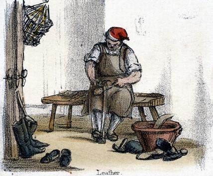 'Leather', c 1845.
