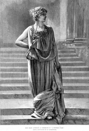 Mary Anderson as Hermione in 'A Winter's Tale', 1887.