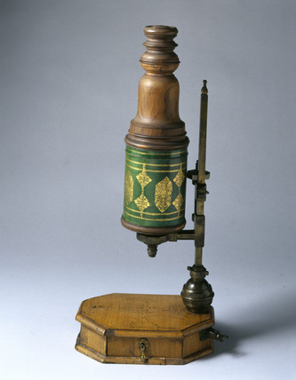 Compound microscope, 1715.