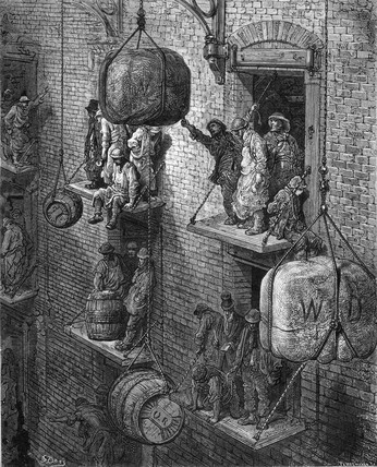 'Warehousing in the City', 1872.
