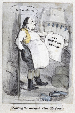 'Fearing the Spread of the Cholera',  1840-1850.