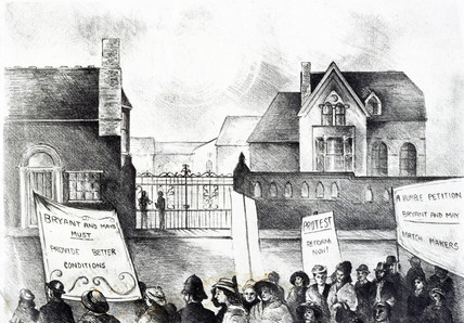 Lockout and demonstration at the Bryant and May match factory, 1888.