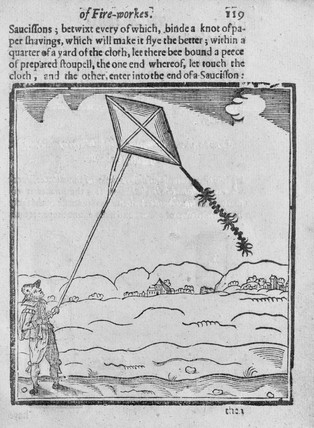 Early English kite, 1630s. Plate taken from