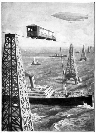 Presently the English Channel was bridged, 1908 (Science Museum / Science & Society)