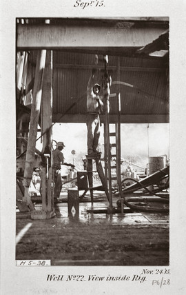 'Well No 22, View inside rig', 24th November, 1915.