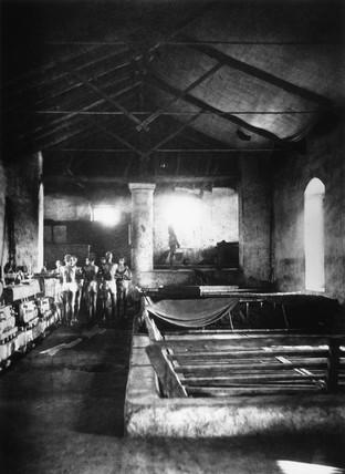Indigo boilers and fecula table, Allahabad, India, 1877.