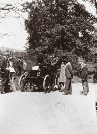 C S Rolls' 8 hp Panhard at the Richmond Show, Greater London, 1898.