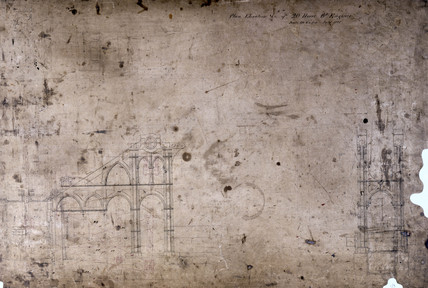 Side lever engine plan for a 20 hp engine, July 1825.