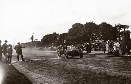 C S Rolls on the finishing line at Phoenix  Park, Dublin, Ireland, 1903.