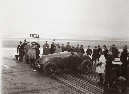 C S Rolls' Mors at the Portmarnock Speed Trials, Ireland, 1904.