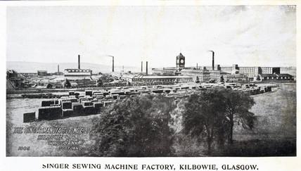 Singer Sewing Machine Factory, Kilbowie, Glasgow, 1905.