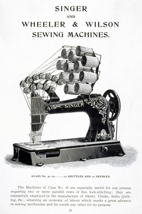 Singer industrial sewing machine, model Clas 41, c 1905.