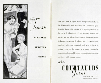 Rayon advertisement, 1930s.