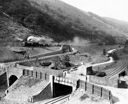 Works adjoining the Great Western Railway, Gawr Valley, Wales, 1887-1899.