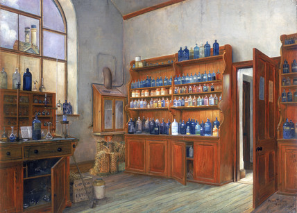 Apothecary's shop, Redruth, Cornwall, 1903.