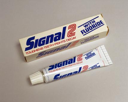 'Signal 2' Gibbs toothpaste, c 1973.