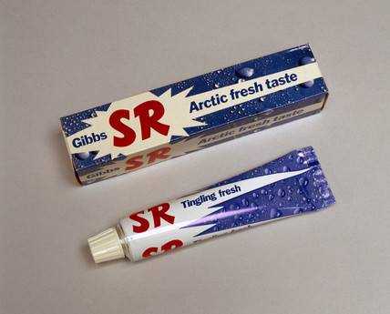 'SR' Gibbs toothpaste, c 1973.