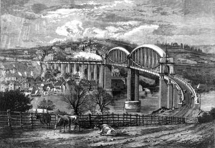 Royal Albert Bridge, Saltash, 1859.