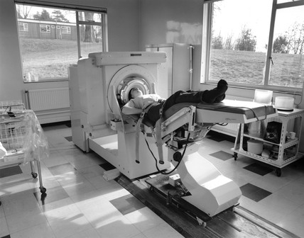 Brain scanner of 1970-1971 in use, 1980.