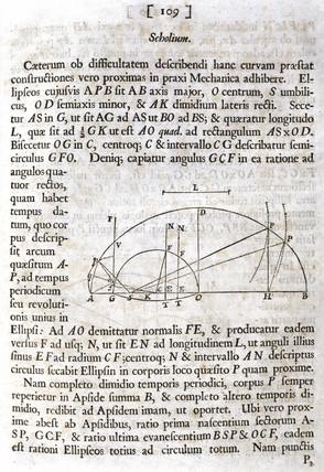 Scholium, from Newton's 'Principia Mathematica', 1687.