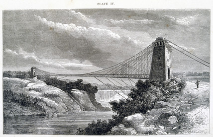 Falls View Suspension Bridge, Niagara, North America, 1877.