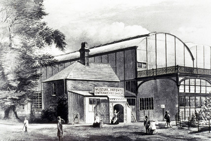 Entrance to the Patent Museum, 1863.