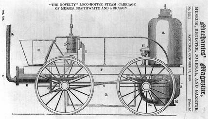 Braithwaite and Ericson's 'Novelty', 17 October 1829.